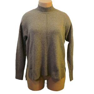 Tahari mock neck drop shoulder pullover sweater L